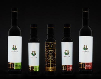 INistria Olive Oil & Wine labels