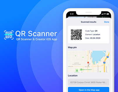 QR Scanner iOS App Banners Design