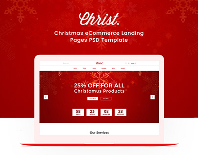 Christ eCommerce PSD Landing Page