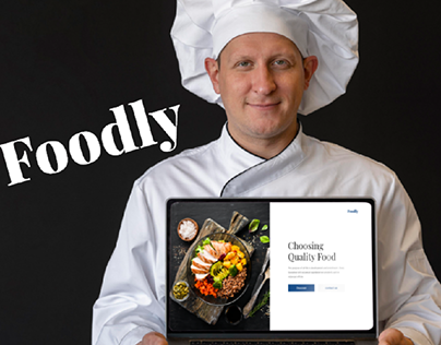 Redesign Foodly Landing Page