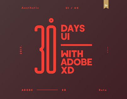 30 Days with ADOBE Experience Design, with DOWNLOAD