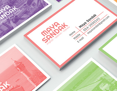 Tourist Guide Business Cards