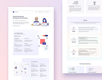 Pricing Page Design for a Marketing and Design Agency