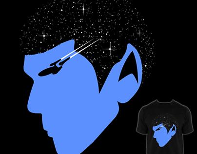 """SPOCK - """"STAR TREK"""" design challenge on """"threadless""""."""