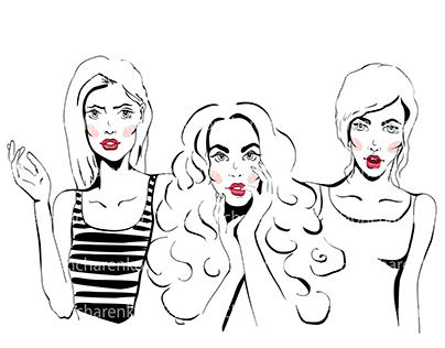 Sketch Illustration Fashion