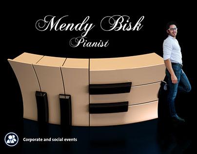 Logo and Flyer for Mendy Bisk | Pianist Toronto