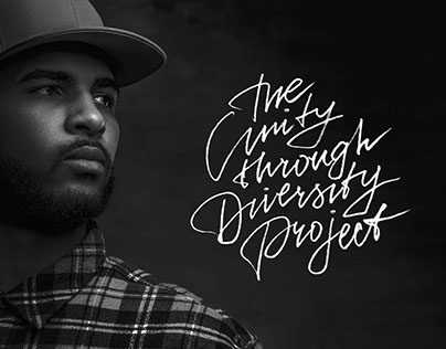"""Lettering design """"The unity through diversity project'"""