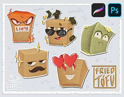 Fried Tófu - Telegram Sticker Pack