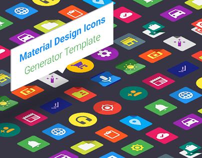 Material Design Icons Generator Template