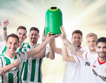 Sevilla y Betis unidos por el reciclaje del vidrio