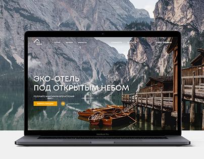 Eco Lodge website concept