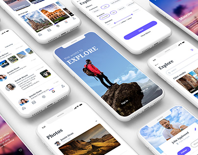 Explore- A tour guide app UI