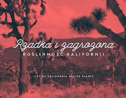 Zagrożona roślinność Kalifornii