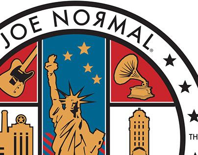 Joe Normal and the Anytown'rs band logos.