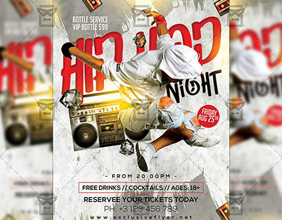 Hip Hop Night Flyer - Club A5 Template