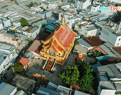 Buu Phap pagoda in Cantho, Vietnam