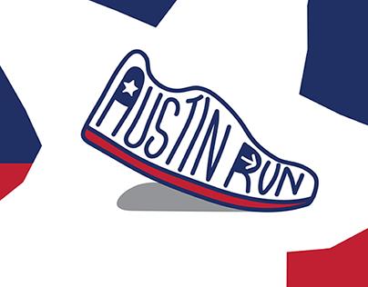 Austin Run - Logo and Brand Identity System Design