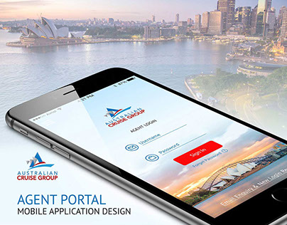 Australian Cruise Group-Agent Portal Mobile App Design