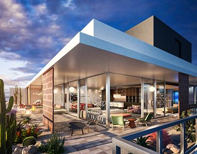Visulaisation-Penthouse terrace- Amber Road Design
