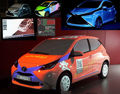 Interactive 3D Projectionmapping for Toyota Aygo