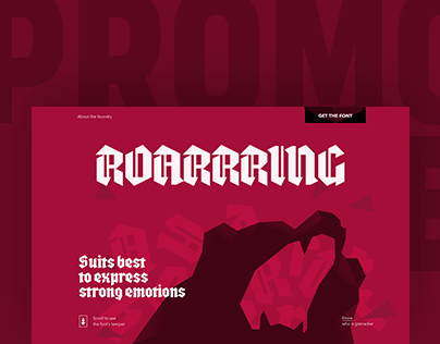 Font Promo Page