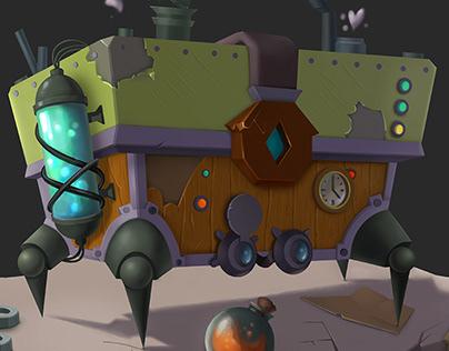 steampunk scholar's chest