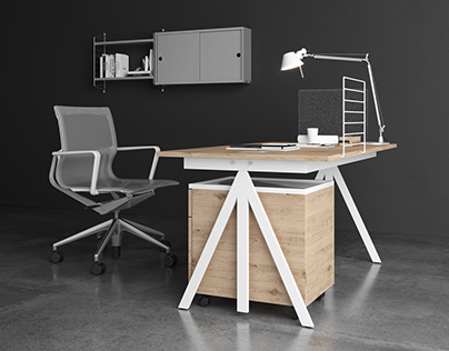 CGI showcase of String and Vitra furniture - by Arcezio