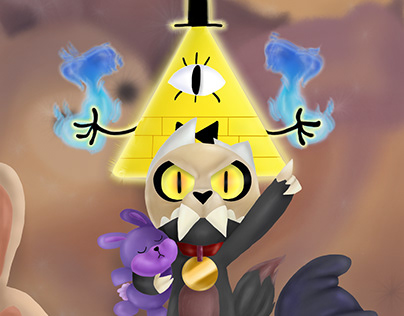Fanart do Bill de GravityFalls e do King de TheOwlHouse