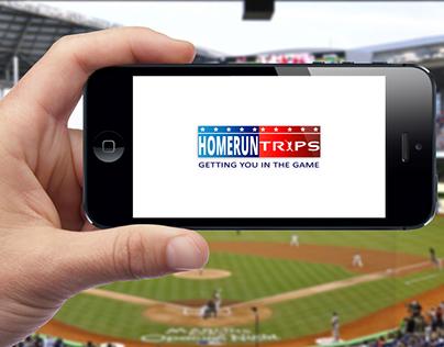 International MLB Baseball Travel Company Logo Design