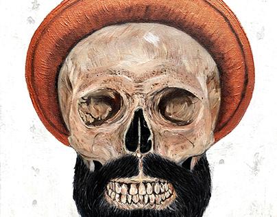 Gökhan Türkmen boneface skull portrait by Engin YILDIZ