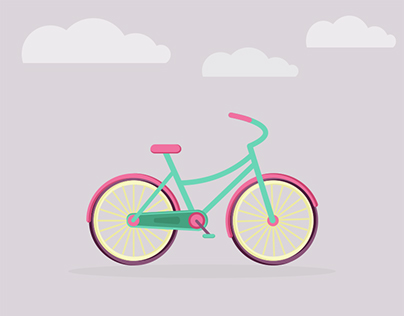 Animated Children's Colorful Bicycle