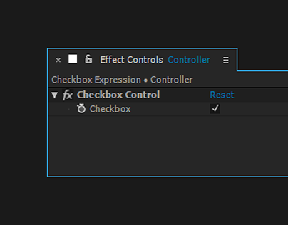 Checkbox Expression Link - After Effects Tutorial