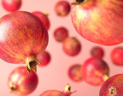 CG Food - Falling Pomegranates