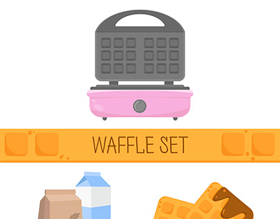 Vector waffle set