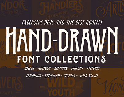 Hand Drawn Font Collections