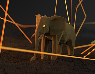 Lone Elephant Redshift for C4D