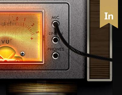 Legendary retro audio devices GUI