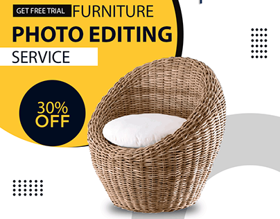 Furniture Clipping path and Retouching service