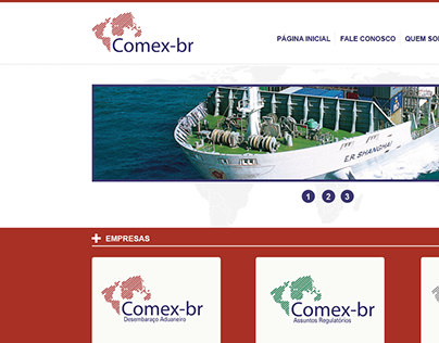 Design for import and export company.