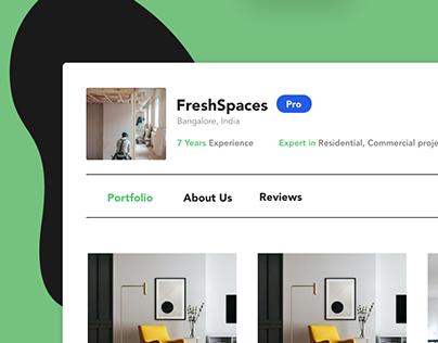 Portfolio on DesignBids