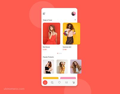 UI/UX E-commerce Shopping App Design Pantone Color