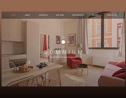 """""""SOMNIUM"""" Web Design"""