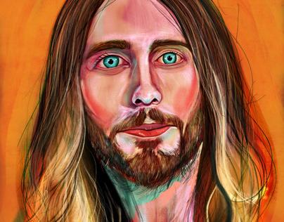Jared Leto portrait study
