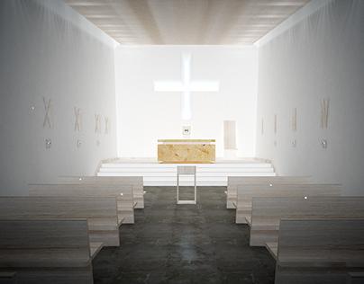 wnętrze kaplicy miejskiej przy szpitalu klinicznym