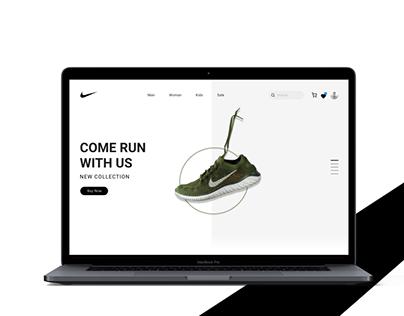 Nike website concept