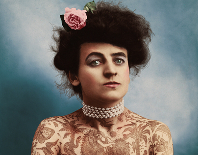 Colorized vintage photo from 1907