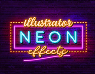 Neon Sign-Illustrator Effects