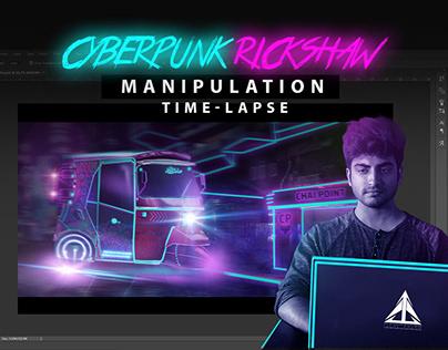 CyberPunk Rickshaw Manipulation - Time-Lapse