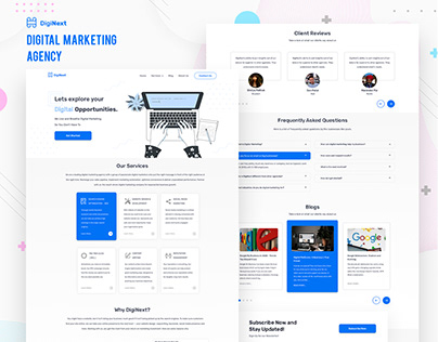 DigiNext - Digital Marketing Agency Website UI