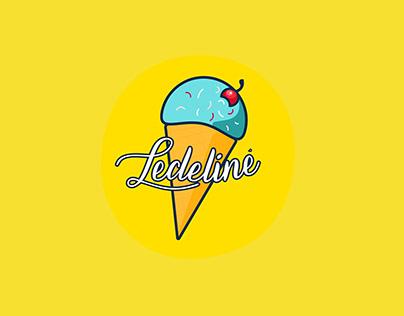 Ledelinė Gelateria Logo!